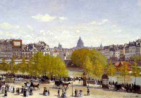 Claude Monet, quai du Louvre (1864)